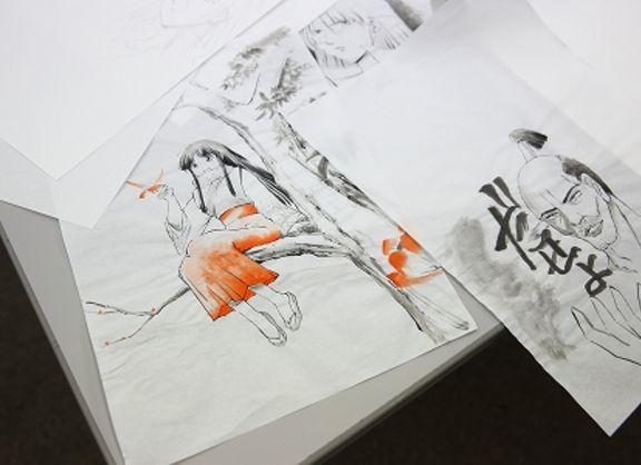 【東京校】脳をやわらかくして新たな表現へ!水墨画講座を実施!