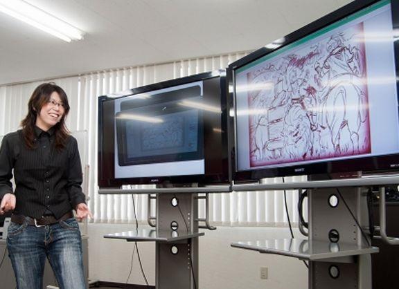【東京校】DeNAアートディレクターさんがバンタンゲームアカデミーでライブドローイングを披露!