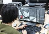 グリザイユ画法☆キャラクターデザイン専攻2年生