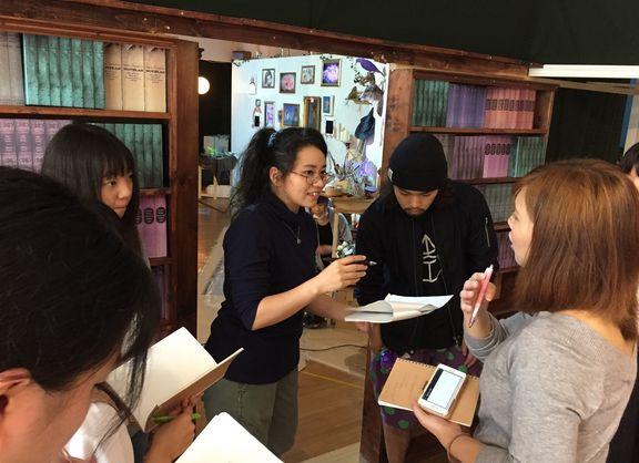 【東京校】『六本木アートナイト2017』にて声優学部在校生が生アテレコに挑戦!