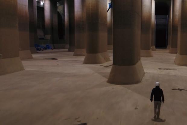 世界最大級の地下水路をドローンで空撮!「首都圏外郭放水路」空撮レポート