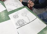 【授業レポート!】デザインワークショップ~アクシデントテキスタイル 点と点で自由に表現~